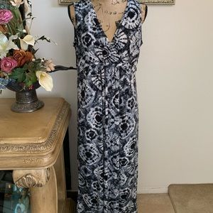 NY Collection XL sun dress black and white
